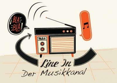 line in der musik kanal